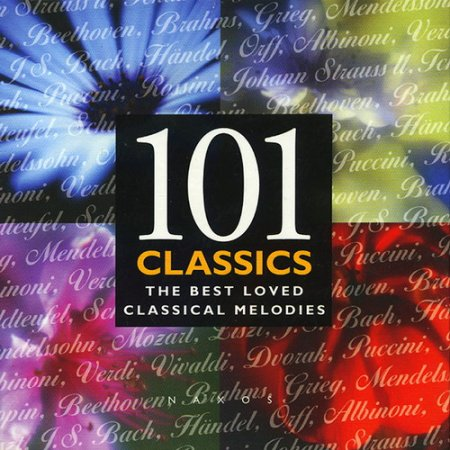 Обложка 101 Classics: The Best Loved Classical Melodies (8 CD) (1997) FLAC