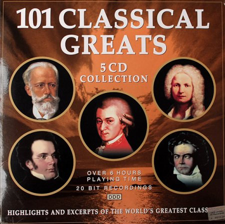 Обложка 101 Classical Greats 5CD (2001) Mp3