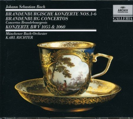 Обложка Karl Richter & Munchener Bach-Orchester - Bach: Brandenburg Concertos (2CD Remastered Set) (1989)